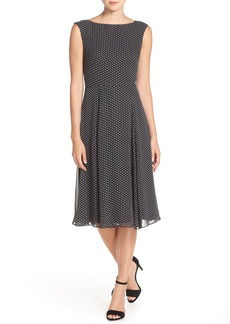 Betsey Johnson Polka Dot Chiffon Midi Dress