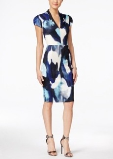 Betsey Johnson Printed Scuba Sheath Dress