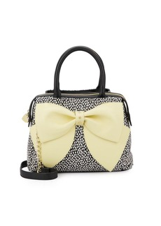 Betsey Johnson Ready Set Bow Dot-Print Satchel