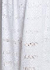 Betsey Johnson Ruffle Cotton Eyelet Halter Maxi Dress