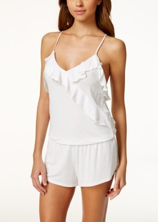 Betsey Johnson Ruffle-Trim Knit Romper