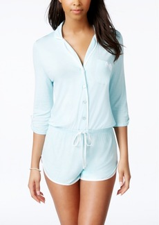 "Betsey Johnson Satin-Trim ""Mrs."" Romper"