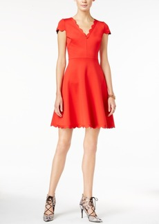 Betsey Johnson Scalloped Fit & Flare Dress