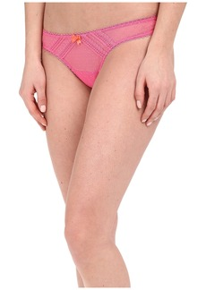 Betsey Johnson Sheer Flirt Dottie Mesh Thong