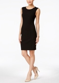 Betsey Johnson Sleeveless Seamed Sheath Dress