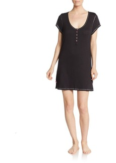 Betsey Johnson Solid Cap Sleeves Tunic