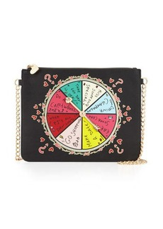 Betsey Johnson Spinner Faux-Leather Crossbody Bag
