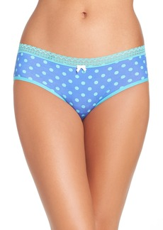 Betsey Johnson Stretch Cotton Hipster Briefs (3 for $30)