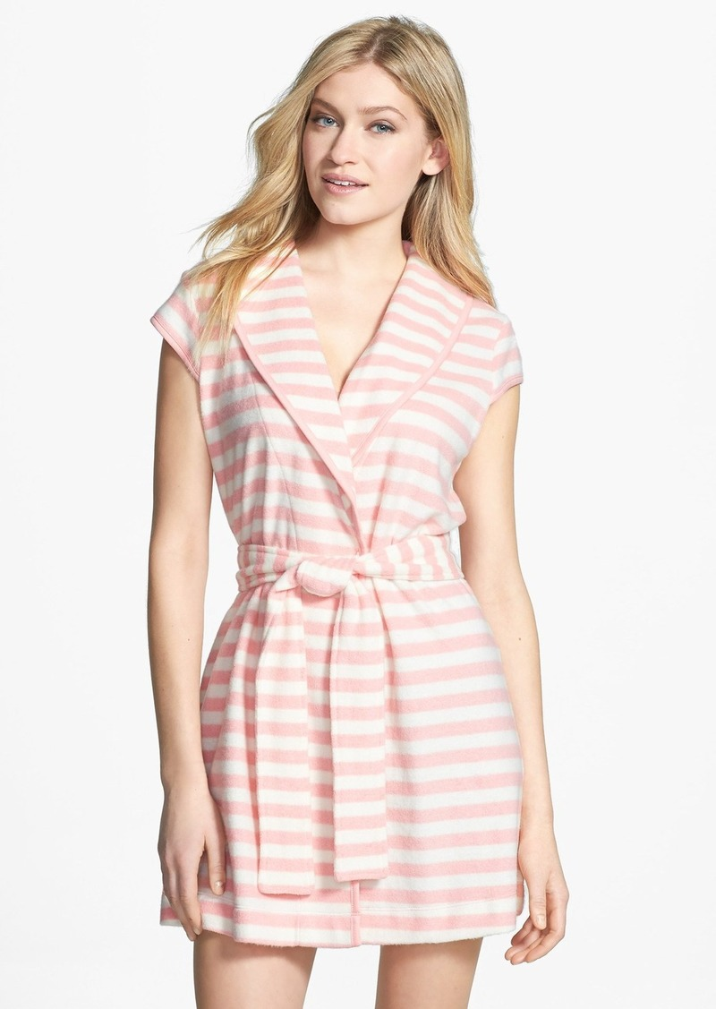 Betsey Johnson Stripe Baby Terry Robe