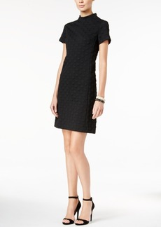 Betsey Johnson Textured Short-Sleeve Shift Dress