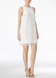 Betsey Johnson Embroidered Illusion Shift Dress