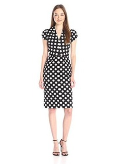 Betsey Johnson Women's Big Dot New Midi Dress Black/Ivory