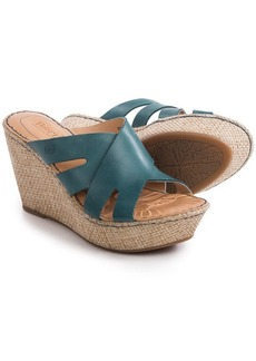 Born Ilara Wedge Sandals - Leather (For Women)