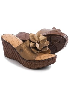 Born Jankel Wedge Sandals - Leather (For Women)