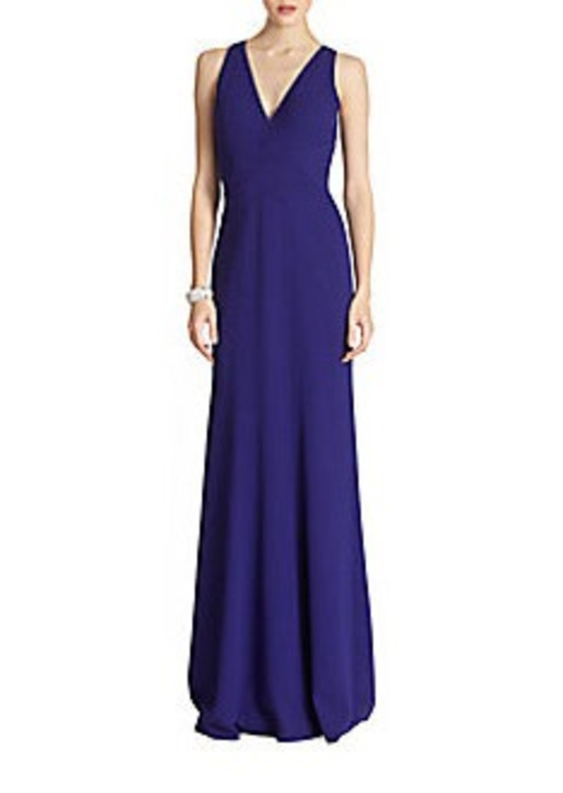 David Meister Sleeveless Crepe Gown