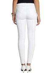 J Brand Eyelet-backed low-rise skinny jeans