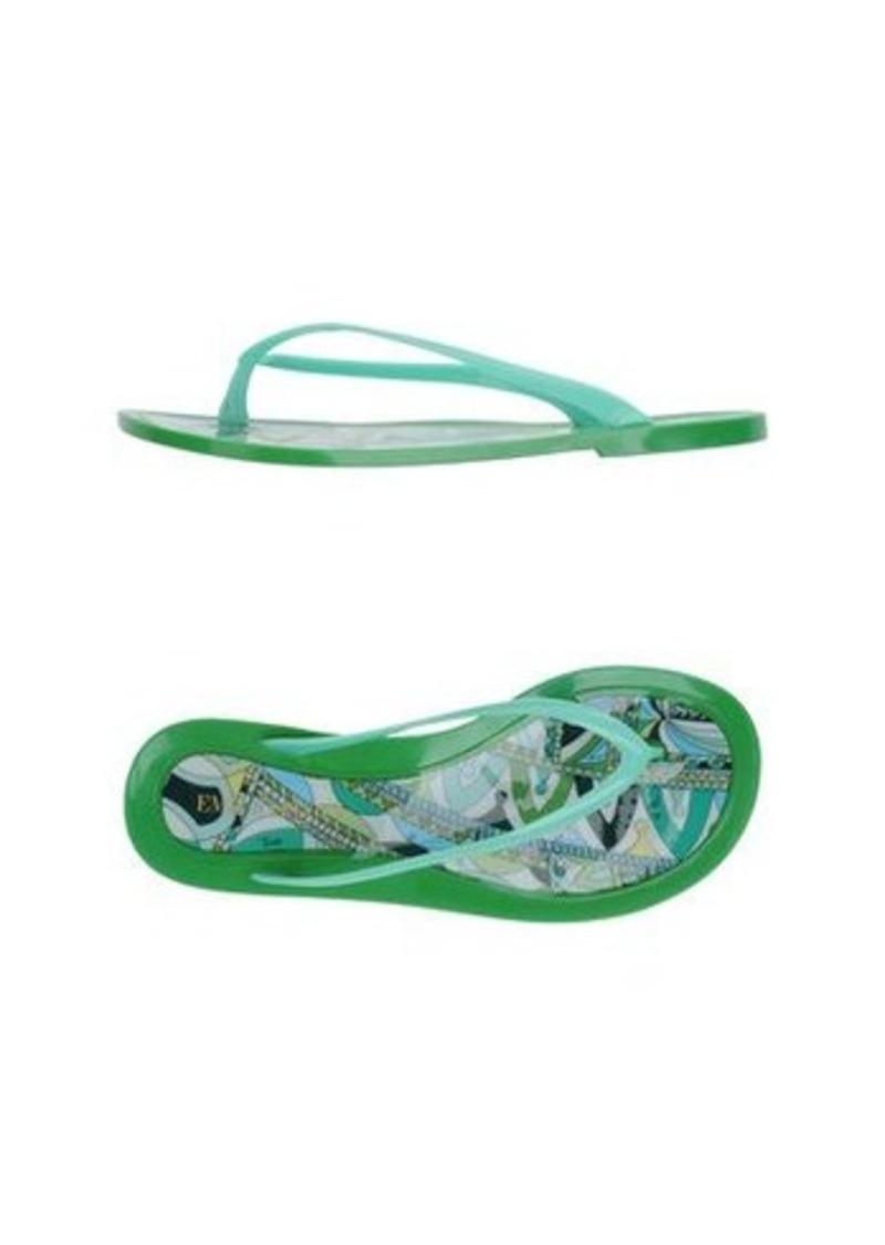 EMILIO PUCCI - Flip flops & clog sandals
