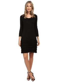 Calvin Klein 3/4 Sleeve Fringe Dress
