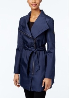 Calvin Klein Asymmetrical Belted Trench Coat