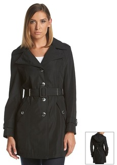 Calvin Klein Belted Faux Silk Trench Coat