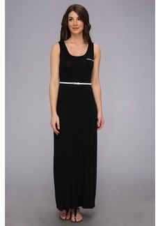 Calvin Klein Belted Rayn Maxi Dress CD4N11X3