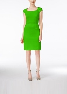 Calvin Klein Cap-Sleeve Scuba Sheath Dress