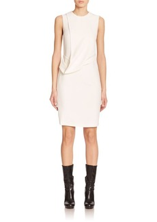 Calvin Klein Collection Daina Drape-Front Sheath