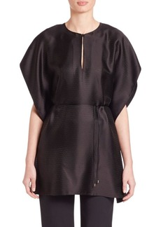 Calvin Klein Collection Jacquard Kimono-Sleeve Blouse