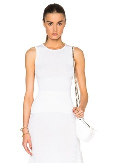 Calvin Klein Collection Willowis Silk & Cotton Rib Tank