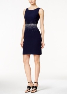 Calvin Klein Colorblocked Rhinestone Sheath Dress
