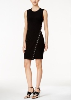 Calvin Klein Embellished Asymmetrical Sheath Dress