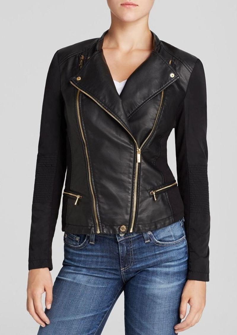 Calvin Klein Faux Leather Moto Jacket