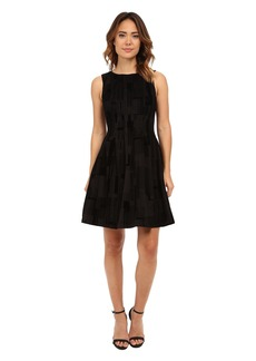 Calvin Klein Flocked Flare Dress