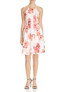 Calvin Klein Floral Fit and Flare Dress - 100% Bloomingdale's Exclusive