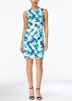 Calvin Klein Geo-Print Sheath Dress