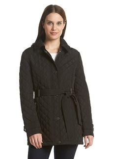 Calvin Klein Hooded Quilt Coat