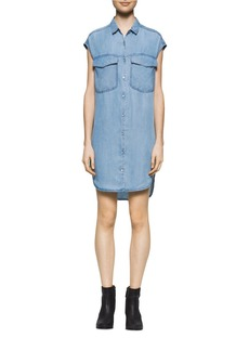 CALVIN KLEIN JEANS Button-Down Denim Shirtdress