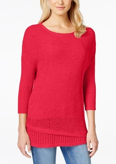 Calvin Klein Jeans Crew-Neck Three-Quarter-Sleeve Sweater