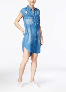 Calvin Klein Jeans Distressed Denim Shirtdress