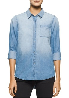 CALVIN KLEIN JEANS Indigo Chambray Pocket Shirt