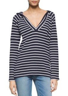 CALVIN KLEIN JEANS Striped Beachy Pullover Hoodie