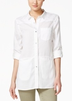 Calvin Klein Jeans Three-Quarter-Sleeve Button-Front Shirt