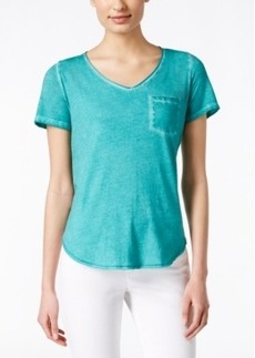 Calvin Klein Jeans Distressed V-Neck T-Shirt