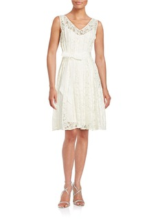 CALVIN KLEIN Lace-Overlay Blouson Dress