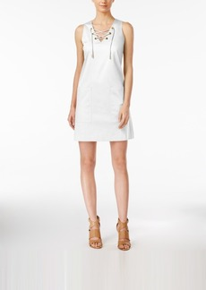 Calvin Klein Lace-Up Shift Dress