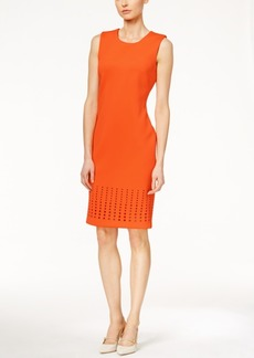Calvin Klein Laser-Cutout Sheath Dress