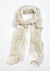 Calvin Klein latte and gold glitter three layer scarf