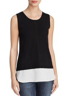 Calvin Klein Layered-Look Sleeveless Sweater