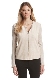 Calvin Klein Light Faux Suede Zip Jacket