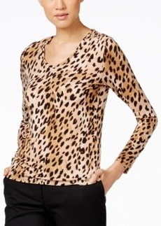 Calvin Klein Long-Sleeve Animal-Print T-Shirt